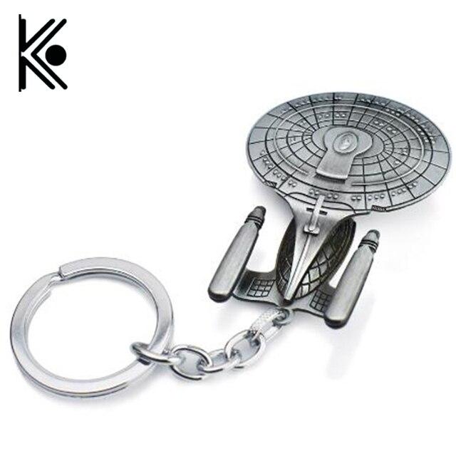 Movie Star Wars key chains chủ Trek Tàu Vũ Trụ USS Vengeance Replica HD Tàu Chiến Mô Hình Kim Loại KeyRing Keychain món quà của con