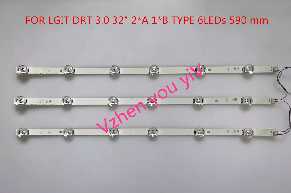 3PCS(2*A 1*B) New LED backlight strip 32DRT 3.0 for LGIT A LGIT B LG TV 32MB25VQ 6916l-1974A 1975A 2223A 0418D 32LB5610 innotek