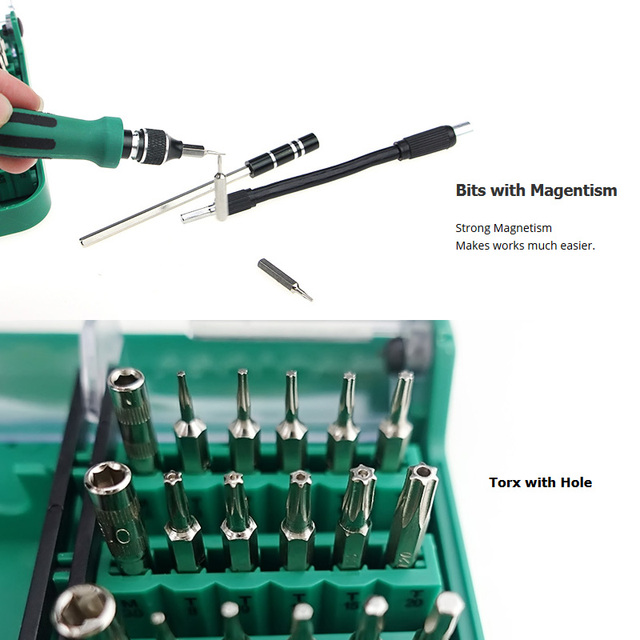 Magnetic Precision Screwdriver Kit (45 In 1)
