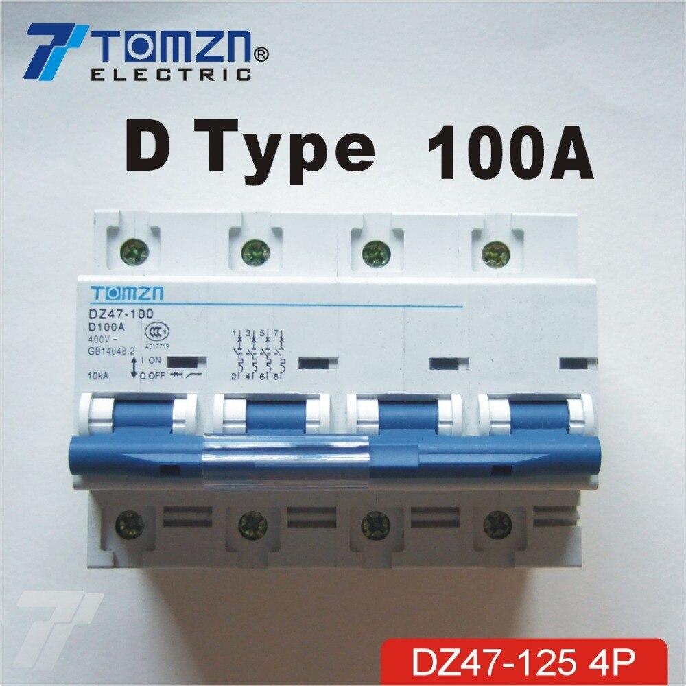 4P 100A 240V/415V 50HZ/60HZ Circuit breaker MCB - a916