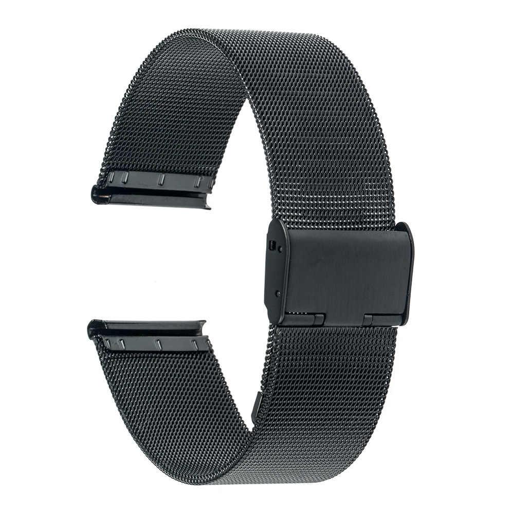 22 ミリメートル Milanese 時計バンド lg G 腕時計 W100 R W110 都会 W150 ステンレス鋼のストラップ腕時計ベルトブレスレットブラックローズゴールドシルバー