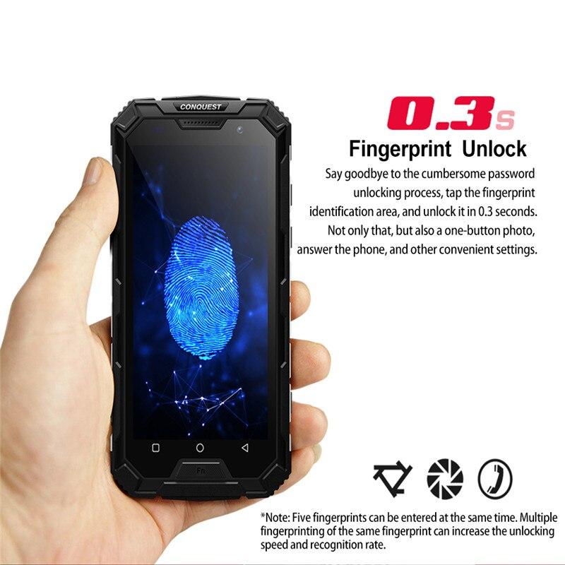 CONQUEST S8 IP68 прочный смартфон 4 Гб 64 ГБ Android 7,0 Восьмиядерный водонепроницаемый мобильный телефон NFC/IR/SOS/OTG/FM/Walkie talkie - 5