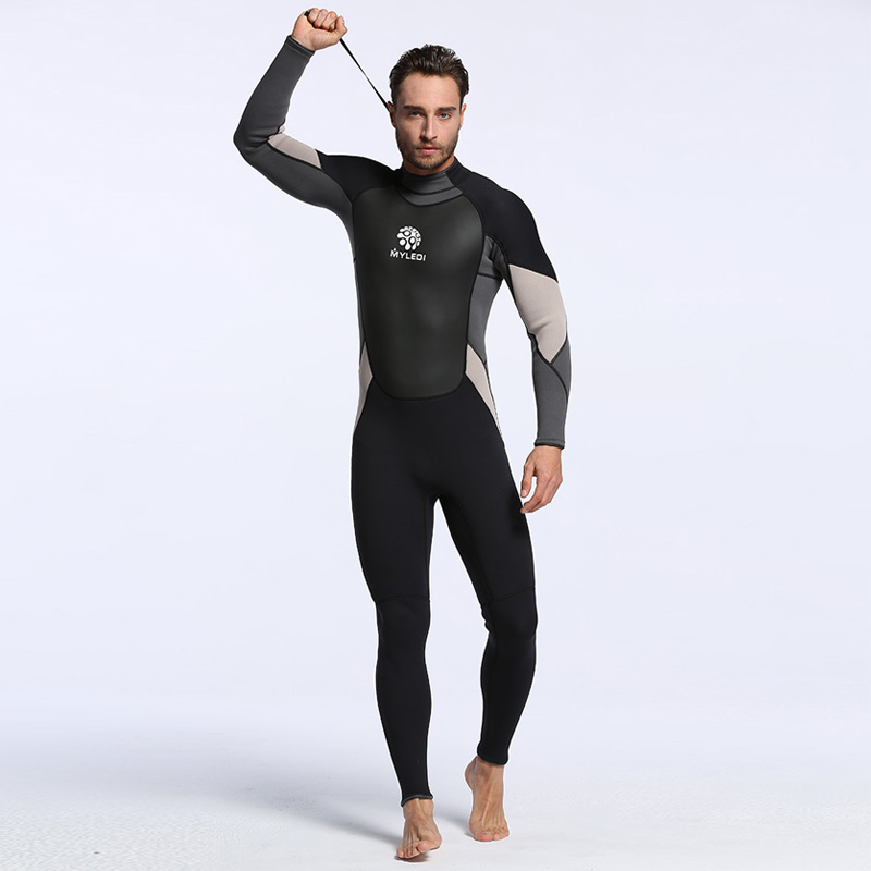 Men's Spearfishing Wetsuit 3MM Neoprene SCR Superelastic Diving Suit Waterproof Warm Professional Surfing Wetsuits Full Suit plus size spearfishing wetsuit 3mm