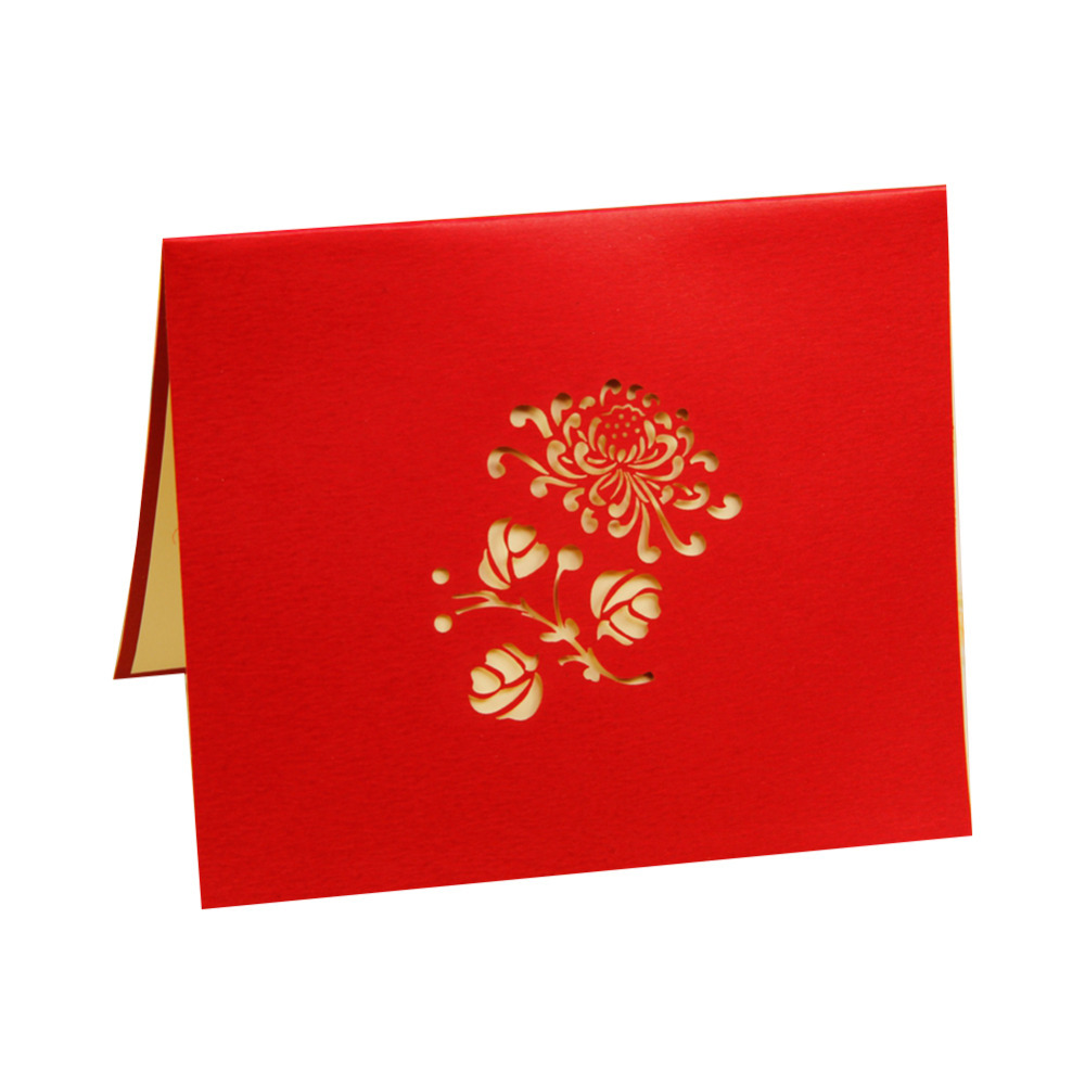 Handmade Animated Adult Birthday Greetings Cards Kirigami 3D Pop Up Card Chrysanthemum Free Shipping 10pcs On Aliexpress