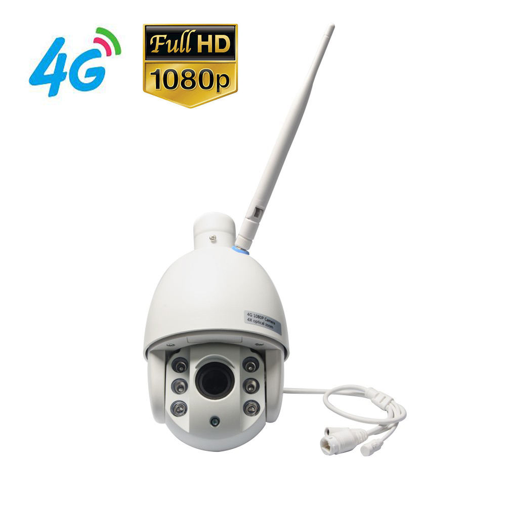 4G Mobile Speed Dome 1080P IP Camera with Dual Video Stream Transmission via 4G FDD LTE Network Free APP for Mobile Monitoring 4g mobile bullet 960p hd ip camera with 4g fdd lte network worldwide