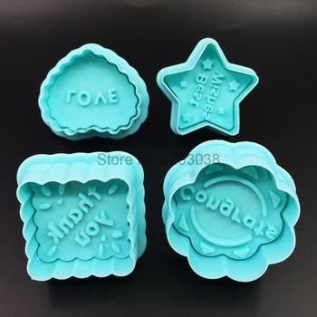 4 Stucke Segen Cookie Keks Cutter Sugar Mold Fondant Kuchen Form