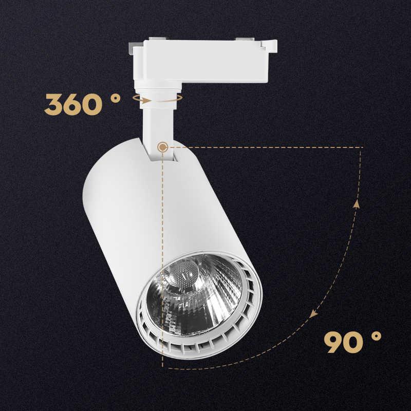 COB Led Track Light Lamp Adjustable 12W 20W 30W 40W 220v Leds Rail light Spot Lamp order tracking for Shop Clothing Store Decor