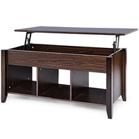 Modern Lift Top Coffee Table Desk with Hidden Compartment Storage Shelf Living Room Furniture HW56639