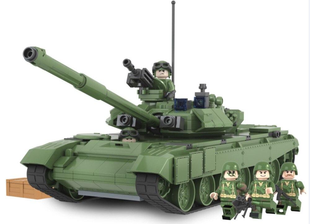 все цены на  AIBOULLY 2017 New 456pcs Military Battle 2016 Tank Model Toys Russia T90A Marine Hero Building Blocks Assembled minis  онлайн