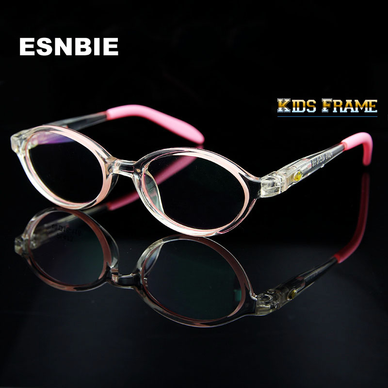 ESNBIE  Kids Clear Fashion Glasses CP Injection Glasses Frames Boys Girls Spectacle Frame New Optical Eyewear