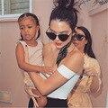 Kendall Jenner Crop Top Mujeres Hombro Verano Recortada Tops Sexy Elegante Partido Delgado Corto Camis Mujeres Camisetas