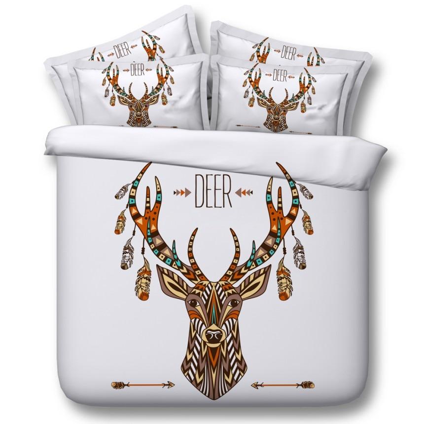 Christmas Bedding Set Deer Print Comforter Sets Duvet