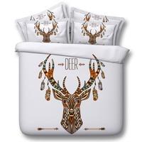 Christmas Bedding set Deer print Comforter sets duvet covers bed sheet sheets quilt doona bedspreads linen King queen size 5PCS