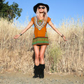 New Women Boho Dress Sexy Tribal African Print Tunic Short Boho Navajo Bali Pattern Dresses 847
