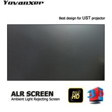 "ALR Ambient Light ปฏิเสธโปรเจคเตอร์หน้าจอ 100 ""Ultra thin border สำหรับ JmGO NEC EPSON UST 3D 4K UST โปรเจคเตอร์"