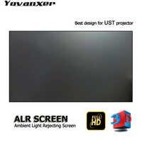 La luz ambiental de primera clase rechaza la pantalla del proyector ALR 100 borde ultrafino se especializa para JmGO NEC EPSON UST 3D 4K proyector