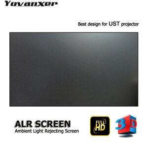 """Image 1 - Pantalla de proyector de luz ambiental ALR de 100 """", borde ultrafino para proyectores JmGO NEC EPSON UST 3D 4K UST"""