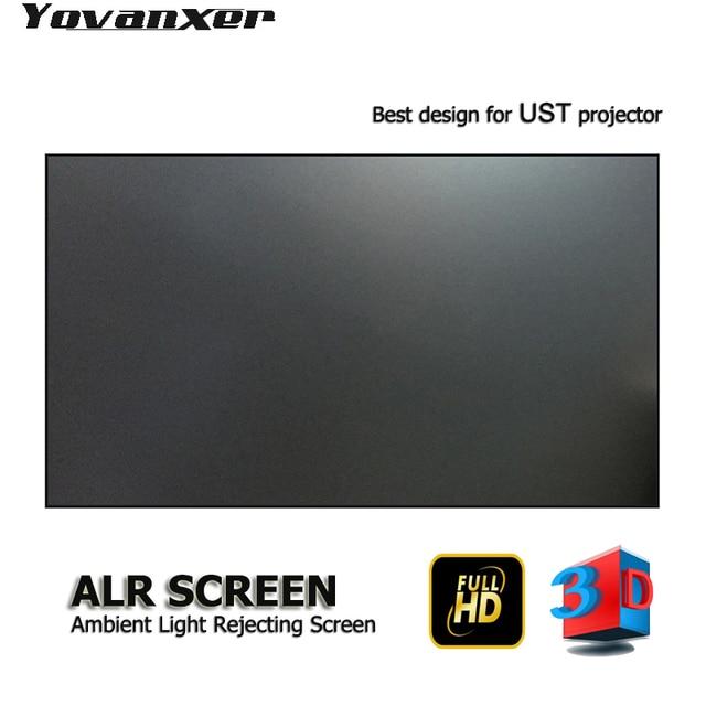"""Pantalla de proyector de luz ambiental ALR de 100 """", borde ultrafino para proyectores JmGO NEC EPSON UST 3D 4K UST"""