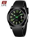 TTLIFE Top Homens Relógios 2016 dos homens Vestido de Marca de Luxo Relógio de Quartzo Com Data Esportes Youngmen Silicone Strap Relógio de Pulso relógio