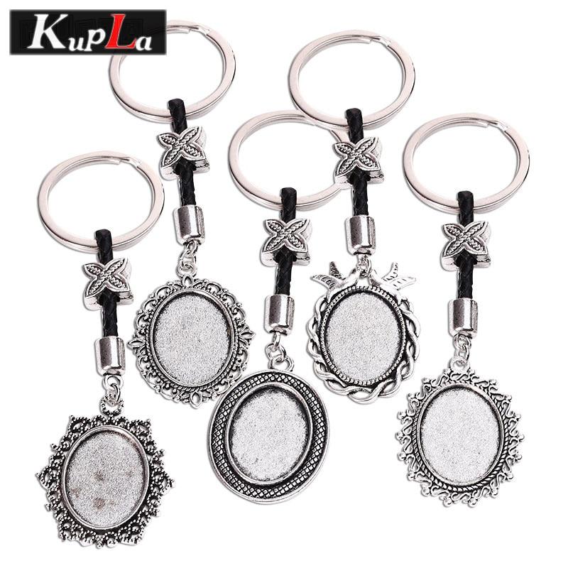18 * 25 մմ Keychains Օվալային Cabochon Setting DIY Keychain - Նորաձև զարդեր