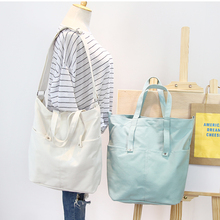 original korean design across shoulder bag canvas simple big space vintage shoulder bag pure color mori girl women bag