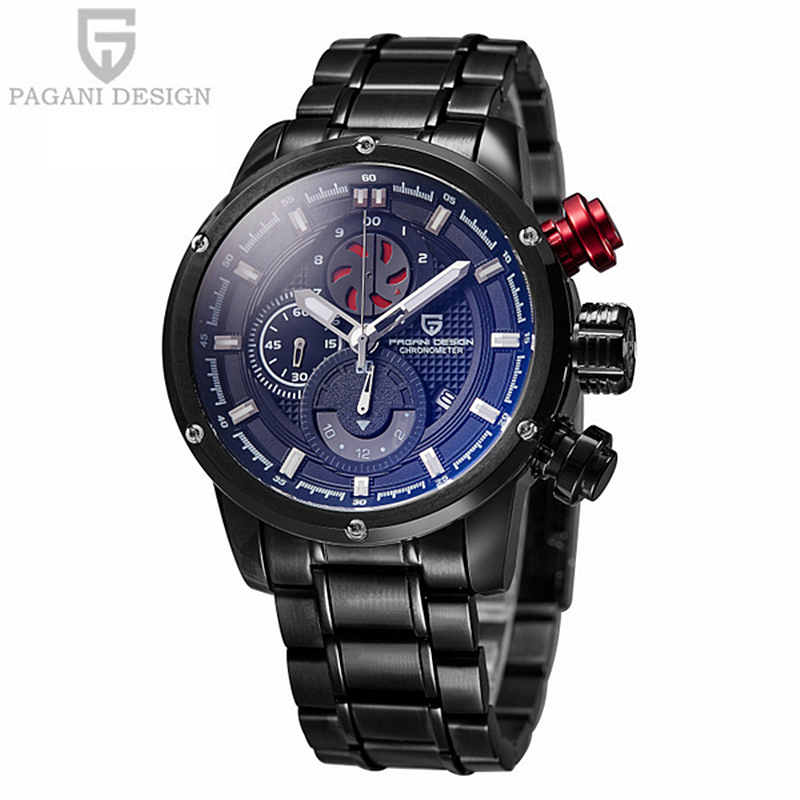 2016 Direct Selling Pagani Design Watches Men Luxury Brand Waterproof Quartz Watch Sports Stainless Steel Relogio