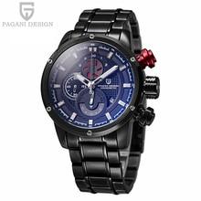 2016 Прямых Продаж Pagani Дизайн Часы Мужчины Люксовый Бренд Водонепроницаемый Кварцевые Часы Спорта Нержавеющей Стали Relogio Masculino
