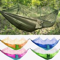 New New Durable Parachute Hammock Fabric Portable Camping Hammock Single Person Outdoor Travel Hiking Hangmat With Mosquito Net