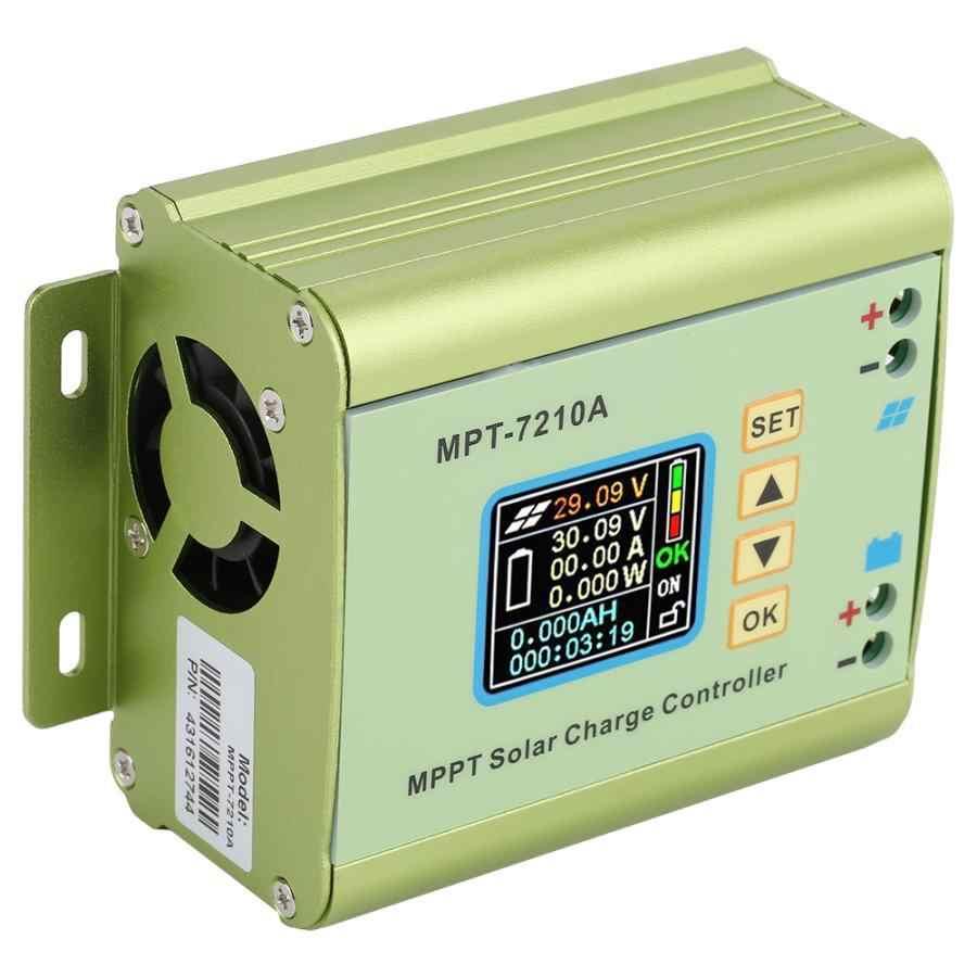 Regulador de carga Solar MPPT MPT-7210A pantalla LCD batería de litio DC-DC 24 V/36 V/48 V/60 V/72 V regulador de impulso 0-10A ajustable