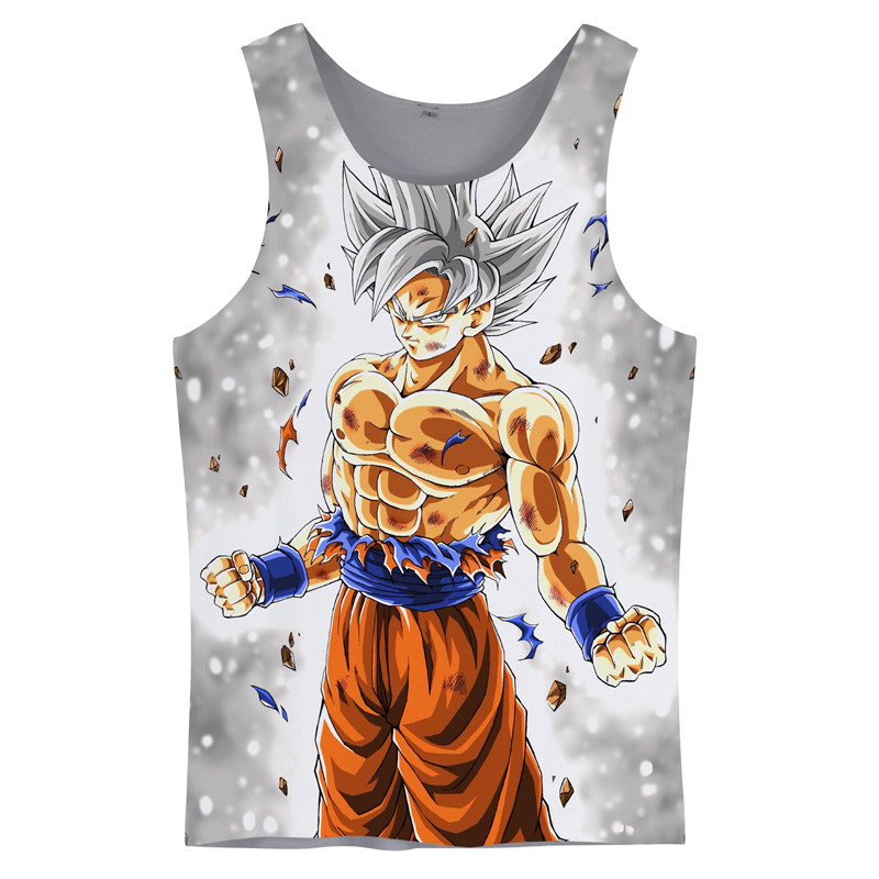 Cloudstyle Dragon Ball Super 3D   Tank     Tops   Men Goku 3D Print Sleeveless Summer Hot Vest Active Cool Fashion Casual   Top   Streetwear