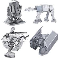 Star Wars brinquedos para as crian Puzzle toys 2015 New Russia metal earth 3D Nano metal