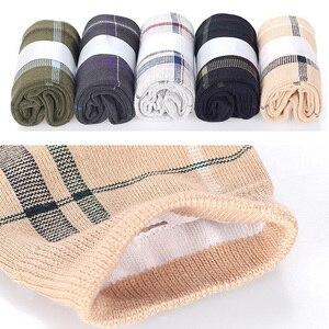 Image 5 - Calcetines de algodón para hombre, calcetín largo transpirable, colorido, suave, 5 par/lote