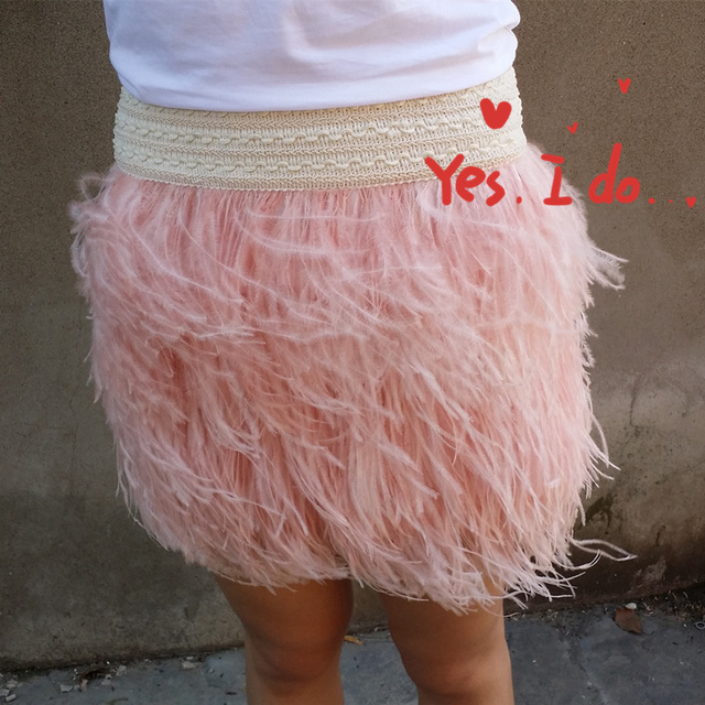1a146d39824 Free shipping 45cm(17.71 inches) length multi-layer ostrich feather skirt  with elastic waistband   WSKT15008