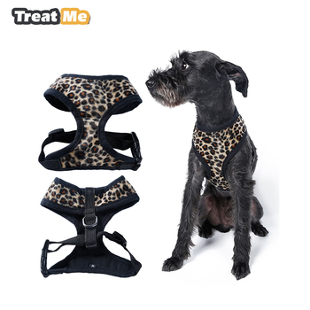 Leopard Pet Control Harness for Dog & Cat Soft Mesh Walk Collar Safety Strap Vest Yuppie Puppy Anti-Pull Mesh Harnes