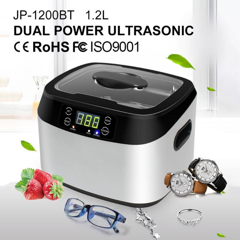 1200ML UV Fruits Vegetables Detoxification Machine Cleaner Digital Ultrasonic Cleaner Cleaning Machine for Jewelry Watches цена