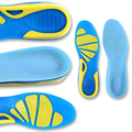 1 Pair KWOEE Silicone Brand Sports Insoles Men and Women Arch support Basketball or Running Shoes Insoles Size Can Be Trimmed