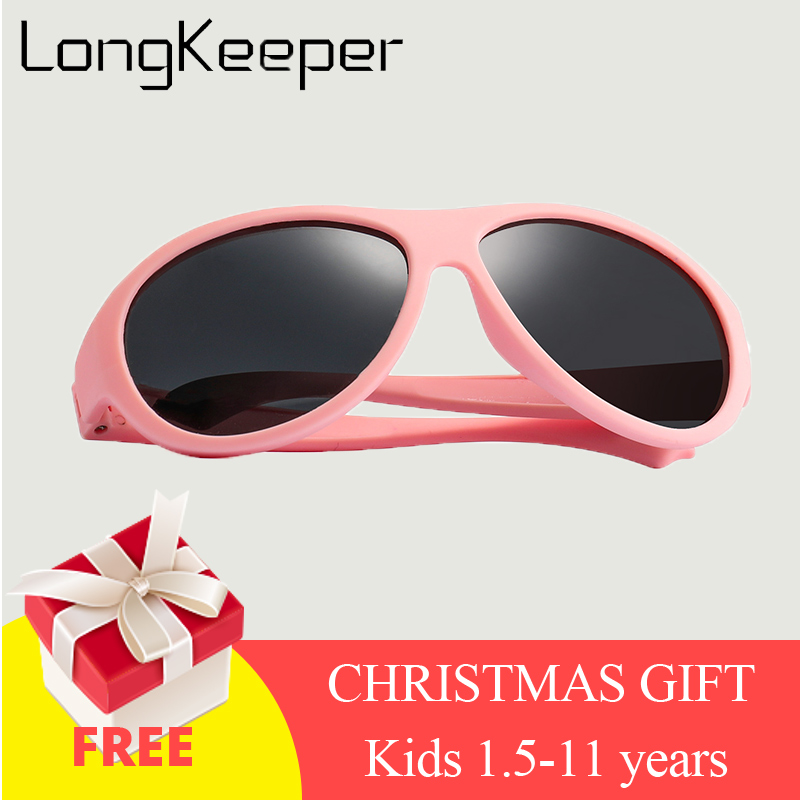 Kids Sunglasses Brand Baby Girls Sunglass Polarized Children Sun Glasses Flexible Safety Frame UV400 Birthday Christmas Gifts(China)