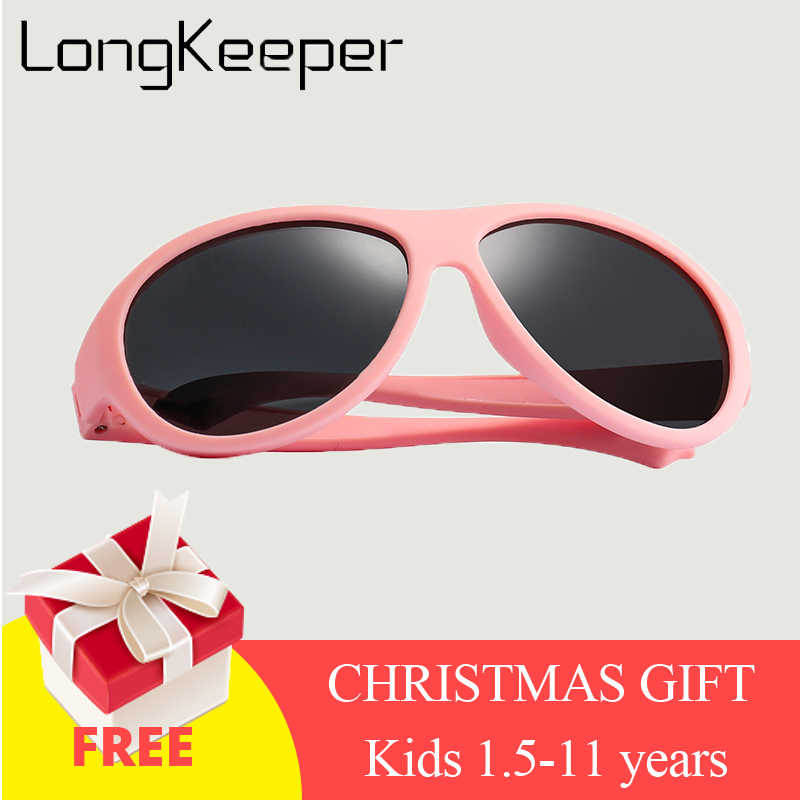 Kids Sunglasses Brand Baby Girls Sunglass Polarized Children Sun Glasses Flexible Safety Frame UV400 Birthday Christmas Gifts