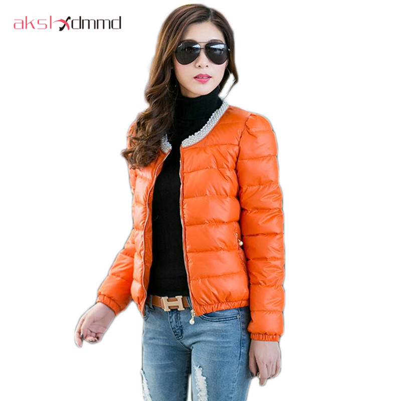 Women Cotton-padded Wadded Coat 2017 New Desigual Beading Lace Patchwork Thin Warm Short Parkas Overcoat Jacket Casual ZL3579