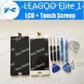 LEAGOO Elite 1 Tela LCD de 100% Novo FHD 5.0 polegadas Display Lcd + Touch Screen de Substituição Do Painel Para LEAGOO Elite um + Preto/Branco