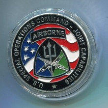 Free Shipping 100pcs/lot,US Special Operations Command Airborne Commemorative Challenge Coin
