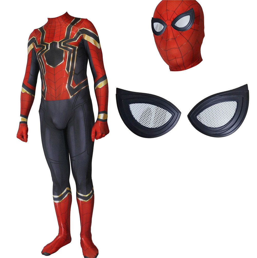 new Spiderman Costume Spiderman Homecoming Cosplay Costume Tom Holland Iron Spider Man Suit kids/adult Iron Spiderman  Jumpsuits