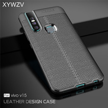 For Vivo V15 Case Luxury Shockproof Rubber Soft Silicone Hard PC Phone Back Cover Fundas
