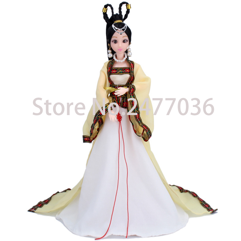 Chinese costume doll ancient costume doll fairy maiden 3D beauty eyes fairy maiden model dolls girls children birthday gift set