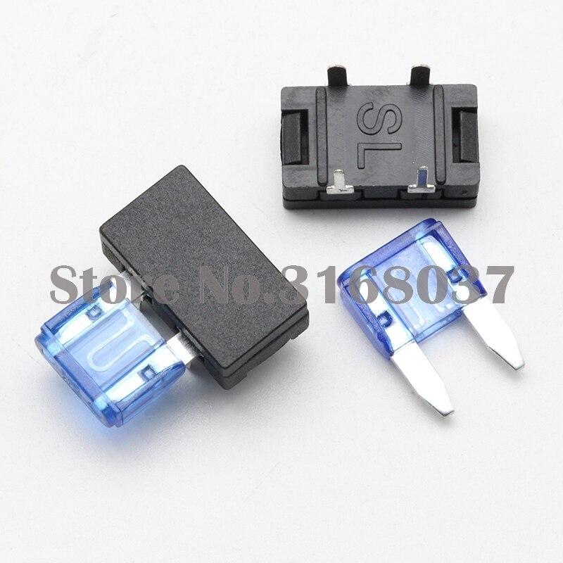 100 set small blade fuse holder pcb panel mount car fuse. Black Bedroom Furniture Sets. Home Design Ideas