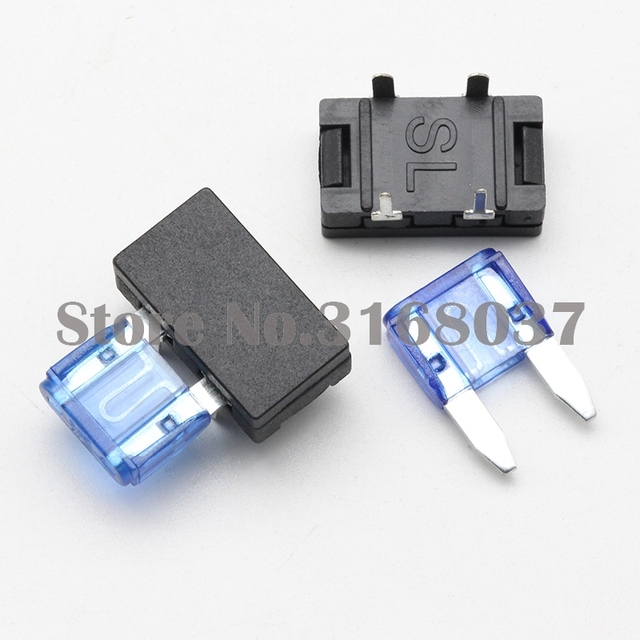 100 set small blade fuse holder pcb panel mount car fuse holder with fuse