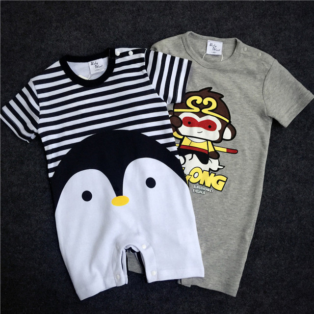 2019 New arrival Baby Rompers Cotton baby boy girl summer short sleeve costume penguin Jumpsuits Roupas Bebes Infant Clothing 4