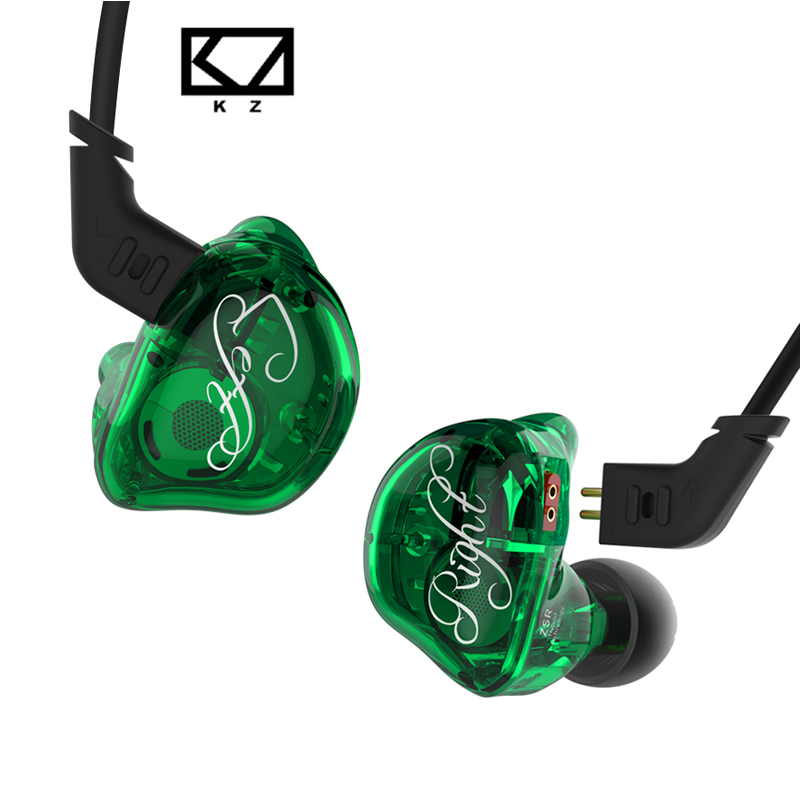 NEW KZ ZSR In-ear Earphone 2BA+1DD With Mic 2PIN Replacement Cable Balanced Armature With Dynamic Unit Noise Cancelling Headset