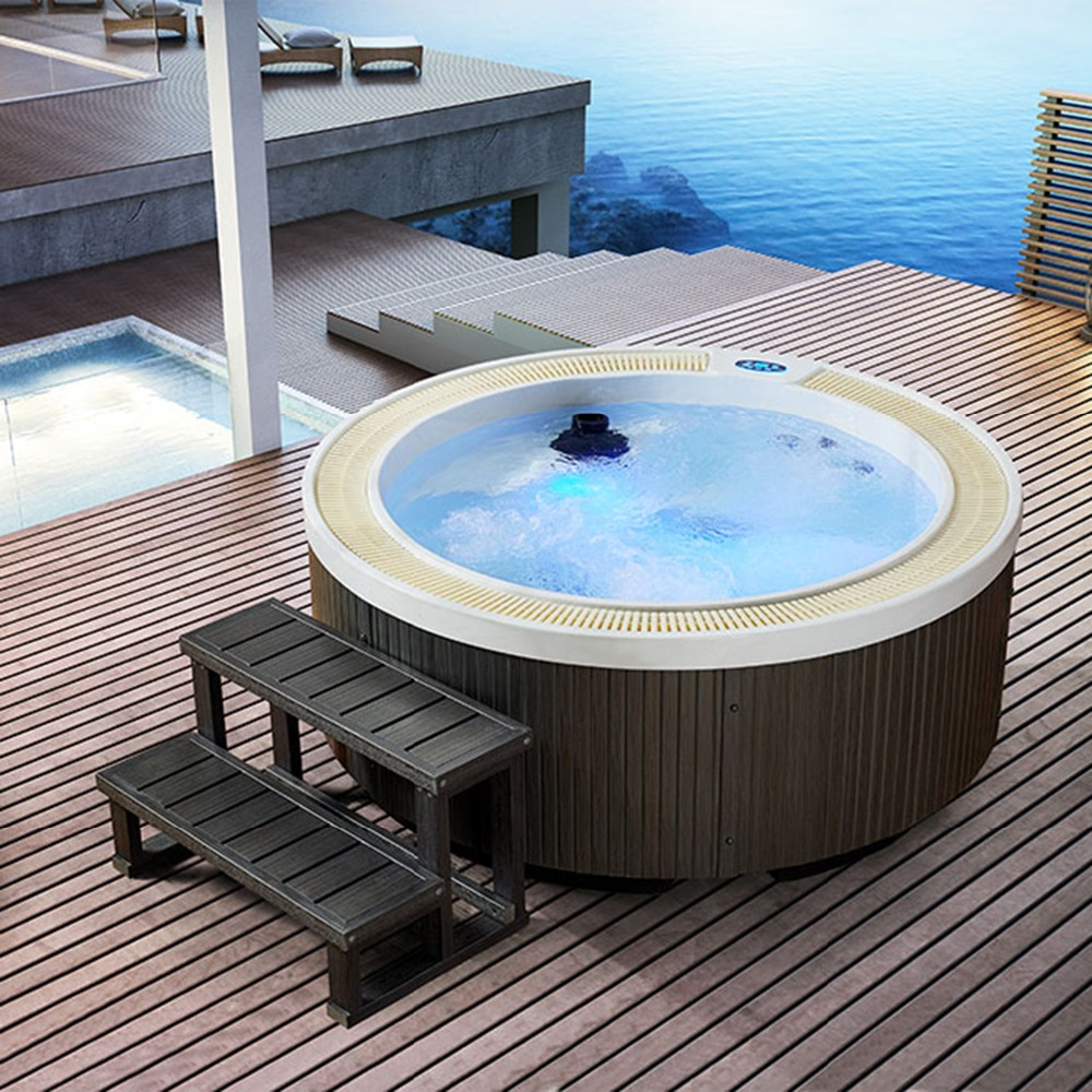 Outdoor Whirlpool Cheap Us 4136 Hot Sale Fashion Independent Spa Tubs Deluxe Outdoor Hydromassage Whirlpool With Constant Temperature Build In Villa In Spa Tubs From Home