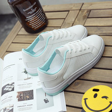 Summer New Fashion Sport Shoes for Women Wedgie with Wooden Sole Breathable Rubber White Brand Walking